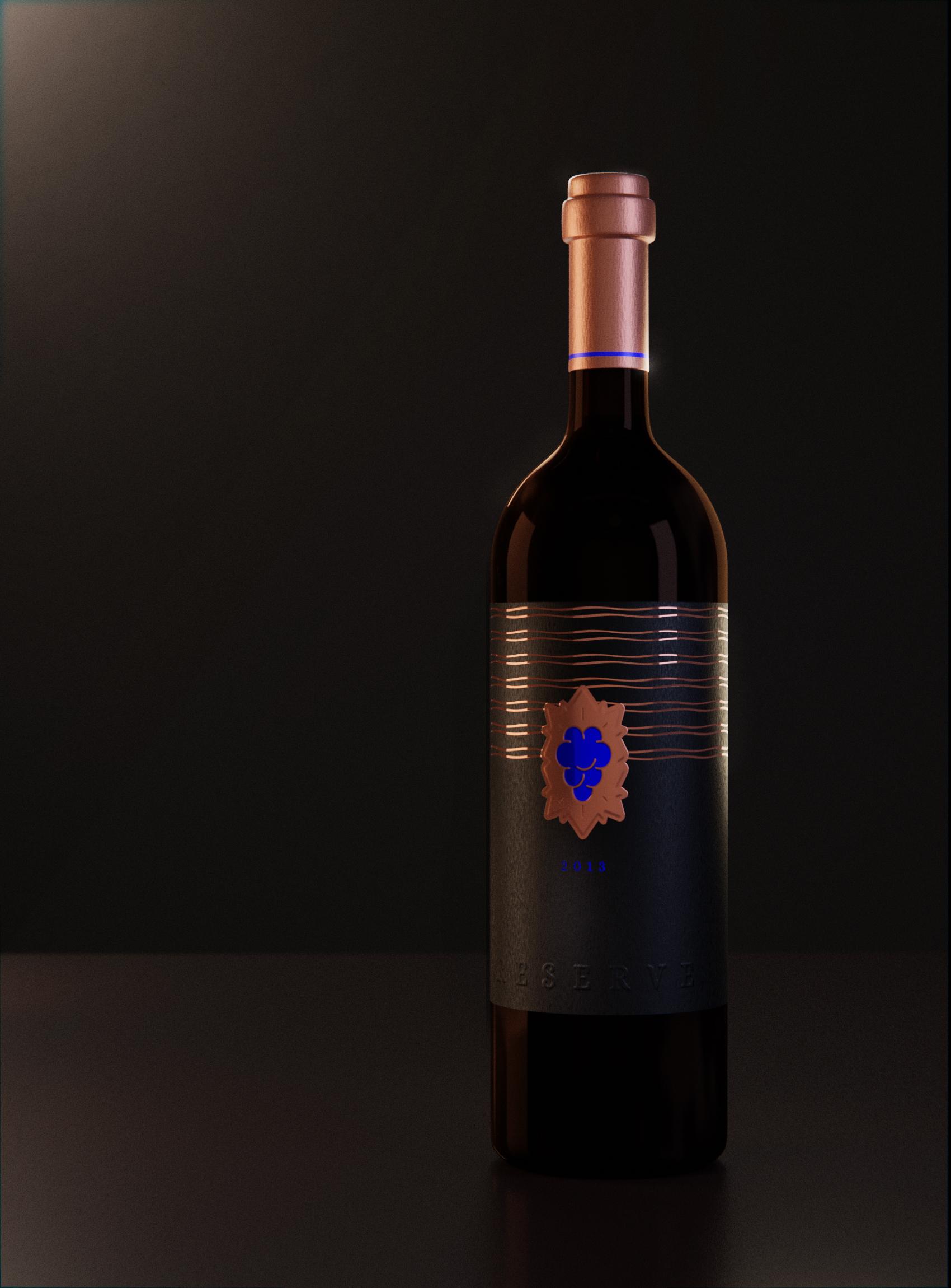wine bottle mockup 3d